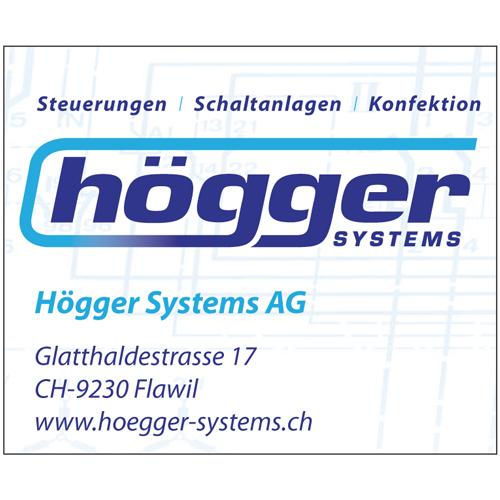 Inserat Högger Systems AG, Flawil